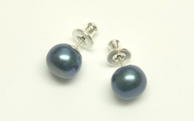 7 mm blue stud pearls