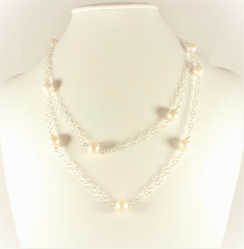 jewelry bridal gatsby row necklace or triple strand bling white az pearl strands inspired freshwater